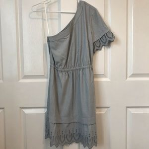 NWT Madewell asymmetrical fit and flare dress